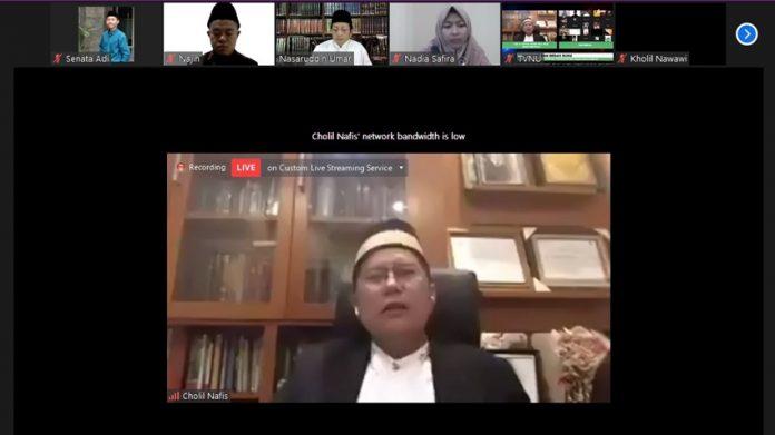 kiai Cholil Nafis di Launching dan Bedah Buku Tafsir Kebangsaan